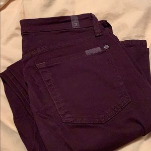 Seven for all mankind maroon jeans
